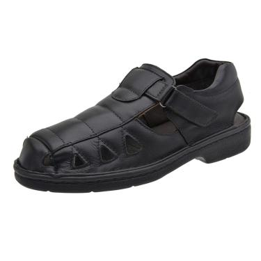 Sandália Terra do Calçado Couro Preto  masculino