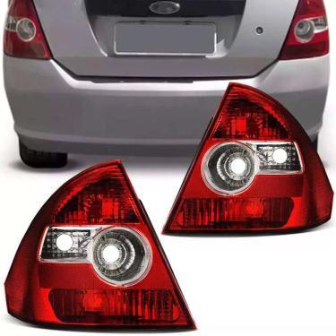Lanterna Traseira Ford Fiesta Sedan 2003 2004 2005 2006 2007 2008 2009 Bicolor Lado Direito Passageiro