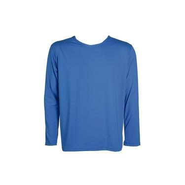 Blusa Infantil Termica Fator Protecao Solar Uv 50 Azul Celeste