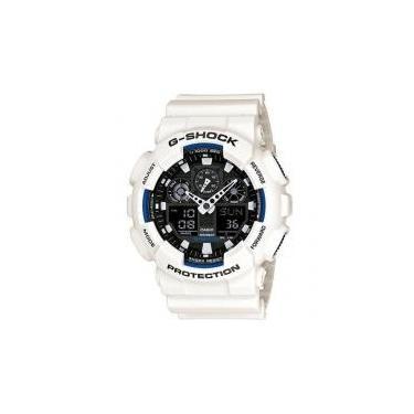 06c23e12757 Relógio Casio G-Shock Masculino Ga-100b-7a Branco