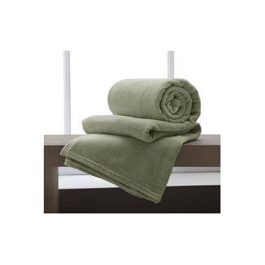 2f3cc8721f Cobertor Manta Microfibra Casal 180x220cm Home Design Verde Corttex