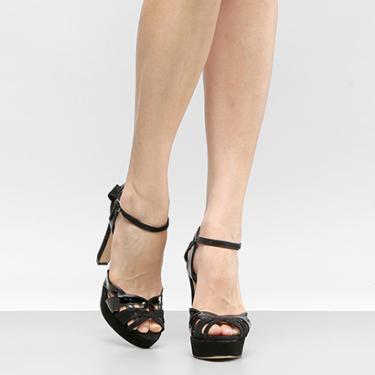 23bd916c4 Sandália Shoestock Preto Meia Pata | Moda e Acessórios | Comparar ...