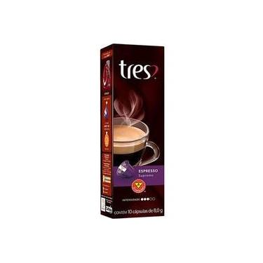 Capsula Tres Coracoes De Cafe Espresso Supremo 10 Capsulas De 8g-