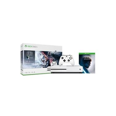 Xbox One S 1TB Microsoft 1 Controle 1 Jogo Star Wars Jedi: Fallen Order 1 Mês Xbox Live Gold
