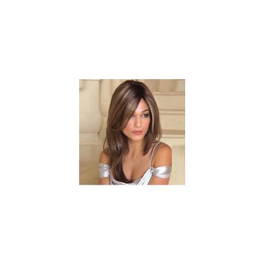 Imagem de Peruca wig cabelo longa 60cm liso fibra Uso Diário moda marrom natural macio