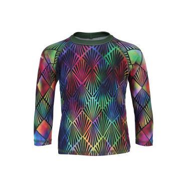 18cbb87e8 Camiseta Manga Longa com Proteção Solar UV Swim Colors Geo Colors 5  Feminina - Infantil -