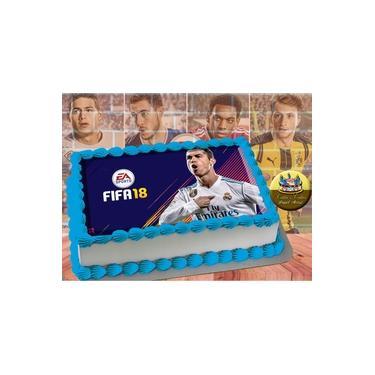 PS4 XBOX GAME - Papel De Arroz Comestível Para Bolo FIFA 16 E 18 A4 20x30cm Mod.04