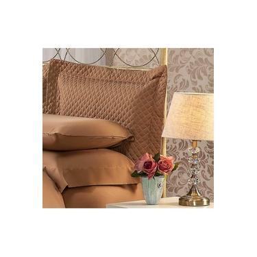 Imagem de Fronha Para Travesseiro 50x90Cm Matelasse Soft Touch Café Plumasul
