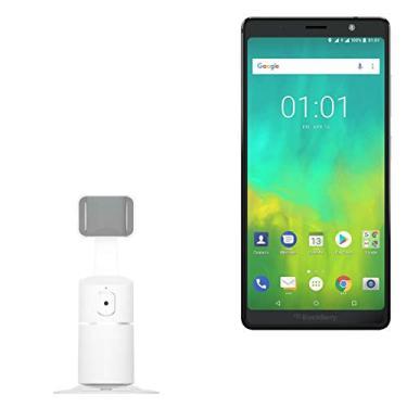 Suporte e suporte para BlackBerry Evolve, BoxWave [PivotTrack360 suporte para selfie] suporte de pivô de rastreamento facial para BlackBerry Evolve – Branco inverno
