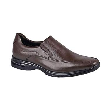 Sapato Social Democrata Smart Comfort Air Spot Masculino - Marrom - 41