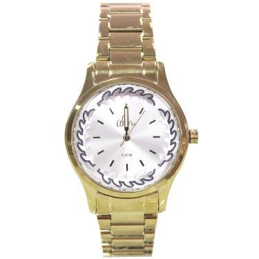 903db1bc148 Kit Relógio Feminino Allora AL2036CN K4C - Dourado
