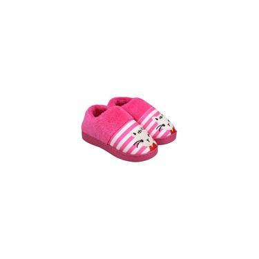 pantufa infantil criança pelúcia veludo fluff macio quente e impermeável antiderrapante pantufas bonito chinelo padrão animal gatinho fofo sapatos de fundo grosso em casa doméstico