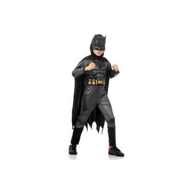 Imagem de Fantasia Batman Infantil de Luxo Com Músculo Máscara e Capa Batman X Superman
