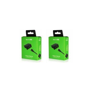Kit 2 Bateria Recarregável E Cabo Usb Para Controle Xbox One