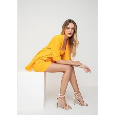 Sandália de Salto Alto Lança Perfume Sandalia Bege  feminino