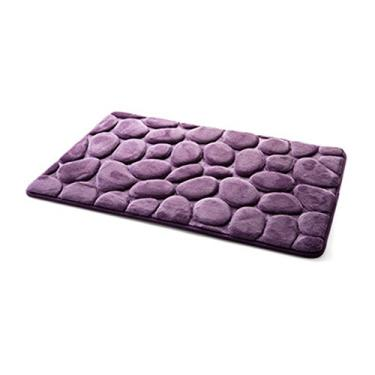 Imagem de Beacon Pet Tapete de banheiro antiderrapante resistente a escorregões, extra absorvente, macio e fofo, grosso, listrado, antiderrapante, tapete de banheiro de microfibra multiuso, tapete de banheiro impermeável, 50,8 x 78,7 cm, roxo