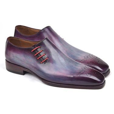 Paul Parkman Sapato Oxford de renda lateral roxo (tamanho ID#901F89), Roxa, 7.5