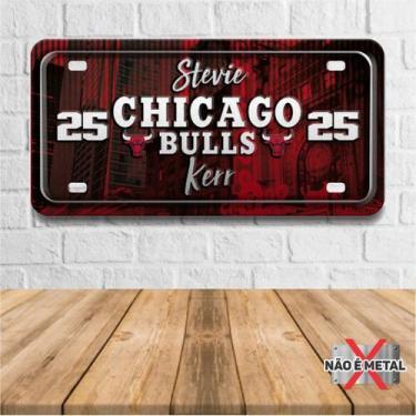 Imagem de Placa De Carro Decorativa Tema Nba -  Chicago Bulls Kerr Pdc-040 - Pla
