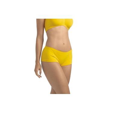 Calcinha Calça Short Ultraleve DeMillus 55600 Amarelo Ouro