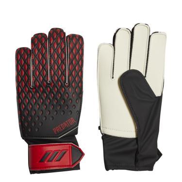 Luvas de Goleiro Adidas Predator Training20 Infantil FH7294, Cor: Preto/vermelho, Tamanho: 6