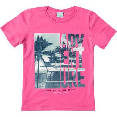 Camiseta Estampada malha uv, Malwee Kids, Meninos, Salmão, 8