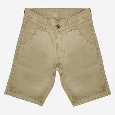 Bermuda Look Jeans Sarja Collor - CAQUI - 6