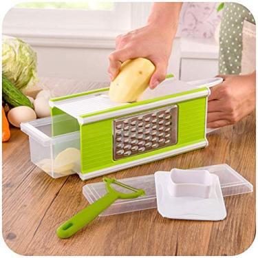 Imagem de Ralador de Legumes Cortador Multiuso Fatiador Descascador Picador Alimentos