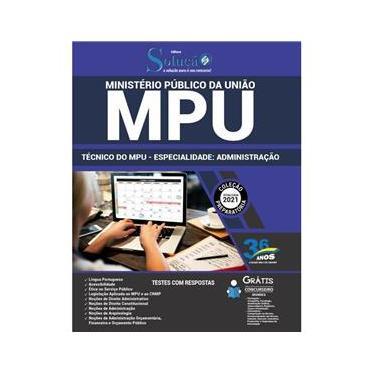 Imagem de Apostila Mpu 2021 Técnico Mpu Especialidade: Administração