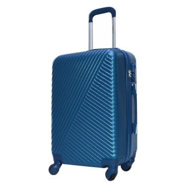 Mala Viagem Pequena ABS c/4 Rodinhas 360º Cadeado Azul Ys21037a