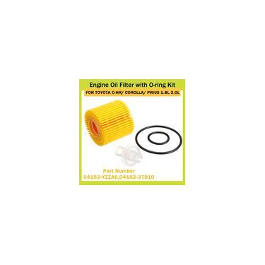 Filtro de óleo do motor do carro com kit de anéis de vedação para oyota c-hr corolla prius 1.8L 2.0L 0415237010 Acessórios