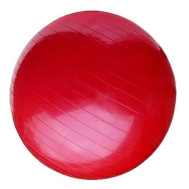 Bola Suiça de Pilates Ioga Academia Funcional Anti Estouro Acompanha Brinde cor:vermelho