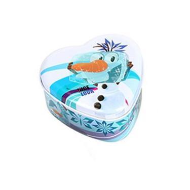 Porta Joia Lata Frozen - ETITOYS - Branco e azul