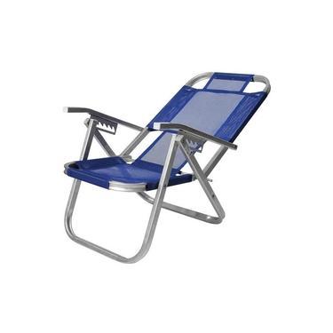 Cadeira de Praia Reclinável Alta - Ipanema - Azul Royal - Botafogo