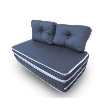 Puff 3 Em 1 Casal Conforto Fa Maringá 128X60x10 Cm Azul