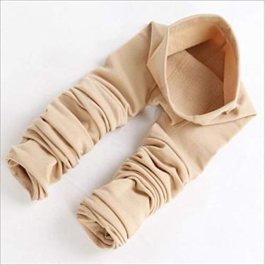 Imagem de Leggings femininas grossas e quentes FENICAL para outono/inverno, calças justas elásticas térmicas (Cor da pele, meia-calça)