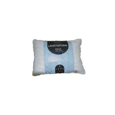 Travesseiro Flocos De Látex Natural Basic 15 cm Látex Foam