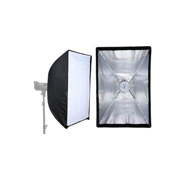 Softbox Studio Light 60X60cm para Flash Tocha com Instalação Rápida
