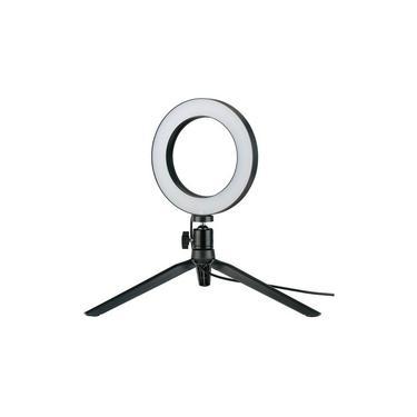 Iluminador De LED Com Tripe Ring Fill Light Studio 15Cm