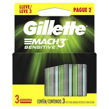 Imagem de Gillette Mach 3 Carga Sensitive, Branco