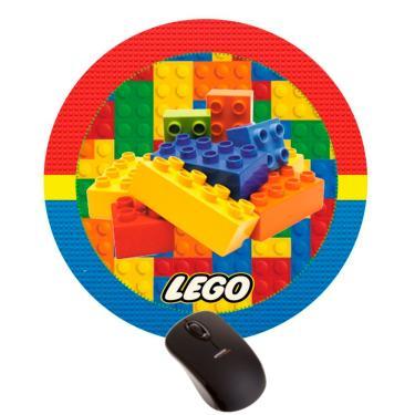 Mousepad Lego Peças Brinquedo Criança Presente Montar