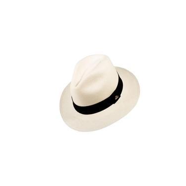 Chapéu Panamá Semi Fino Branco Palha Masculino M