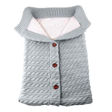 Toyvian Saco de dormir para bebês, saco de dormir de tricô espesso, cobertor para usar no carrinho