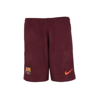 Calção Barcelona III 17 18 Nike - Masculino - VINHO Nike 8852d6edb7e0b