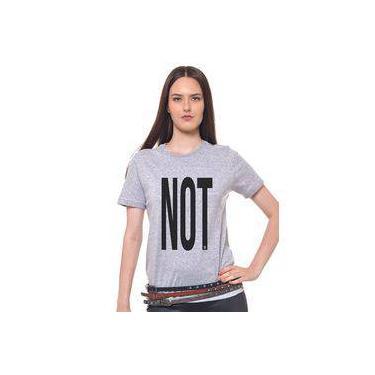 797088995d Camiseta Cinza Mescla Estampada Feminina Joss - Not3