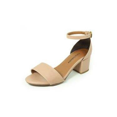 6974eac87 Sandália Salto Nude Baixo   Moda e Acessórios   Comparar preço de ...