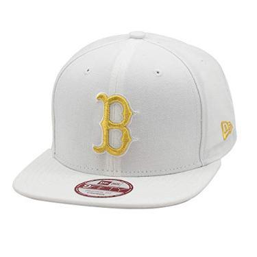 Boné New Era Strapback Original Fit Boston Red Sox Branco/Dourado