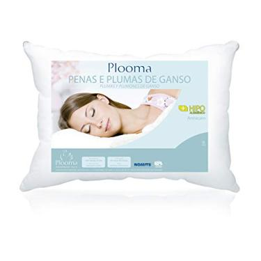 Imagem de Travesseiro 80% Penas 20% Plumas 50x70, Plooma, Penas e Plumas de Ganso, Branco