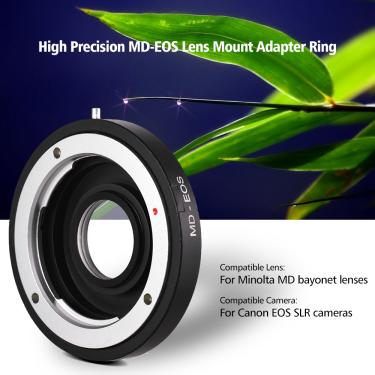 Imagem de Adaptador de lente para câmera, anel adaptador com lente corretiva para lente minolta md compatível