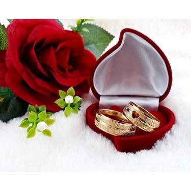 Imagem de Aliança de Casamento Compromisso Par Dourada