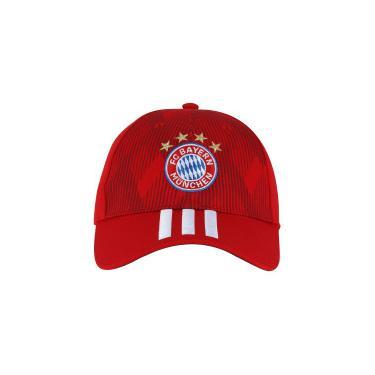 Boné Aba Curva Bayern de Munique 3S adidas - Strapback - Adulto -  VERMELHO BRANCO 7466c7d825b